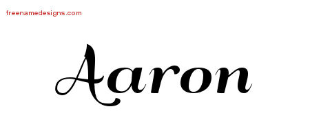 art deco name tattoo designs aaron graphic download free name designs. Black Bedroom Furniture Sets. Home Design Ideas