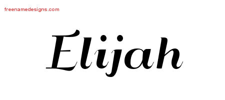 art deco name tattoo designs elijah graphic download free name designs. Black Bedroom Furniture Sets. Home Design Ideas
