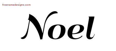 Art Deco Name Tattoo Designs Noel Graphic Download - Free ...