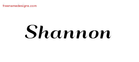 Shannon Art Deco Name Tattoo Designs