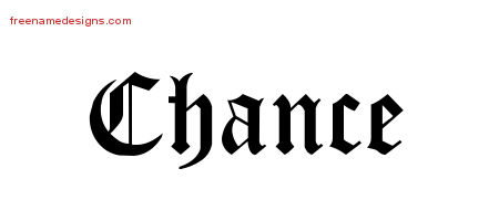 Blackletter Name Tattoo Designs Chance Printable - Free