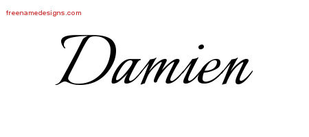 calligraphic name tattoo designs damien free graphic free name designs. Black Bedroom Furniture Sets. Home Design Ideas