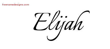 calligraphic name tattoo designs elijah free graphic free name designs. Black Bedroom Furniture Sets. Home Design Ideas