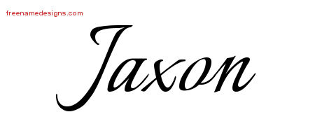 Jaxon Calligraphic Name Tattoo Designs