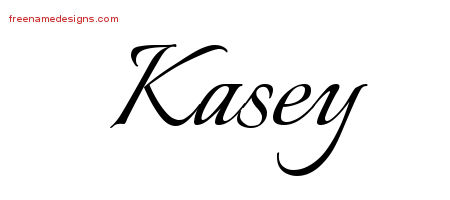 Kasey Calligraphic Name Tattoo Designs