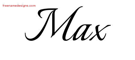 Calligraphic Name Tattoo Designs Max Free Graphic - Free ...