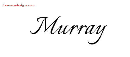 Murray Calligraphic Name Tattoo Designs