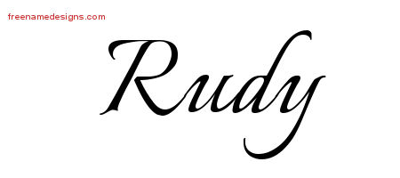 Rudy Calligraphic Name Tattoo Designs