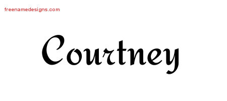 Courtney Calligraphic Stylish Name Tattoo Designs