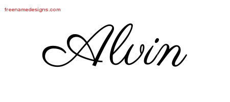 Alvin Classic Name Tattoo Designs