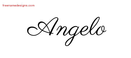Angelo Classic Name Tattoo Designs