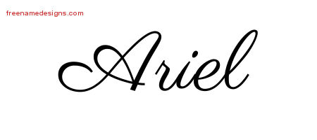 cursive name ariel tattoo pictures to pin on pinterest tattooskid. Black Bedroom Furniture Sets. Home Design Ideas