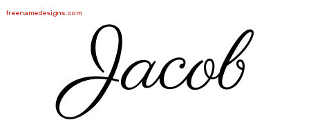 Jacob Classic Name Tattoo Designs Free Download