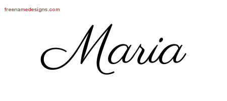 classic name tattoo designs maria printable free name designs. Black Bedroom Furniture Sets. Home Design Ideas