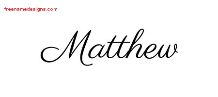 classic name tattoo designs matthew printable free name designs. Black Bedroom Furniture Sets. Home Design Ideas