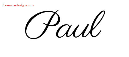 classic name tattoo designs paul printable free name designs. Black Bedroom Furniture Sets. Home Design Ideas