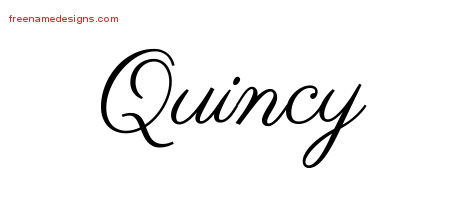 classic name tattoo designs quincy printable free name designs. Black Bedroom Furniture Sets. Home Design Ideas