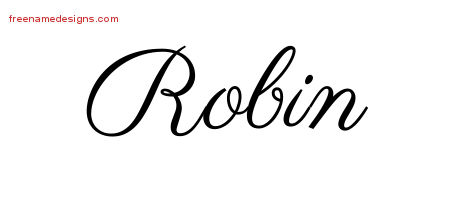 Robin Classic Name Tattoo Designs