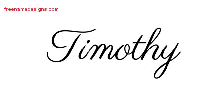 Timothy Classic Name Tattoo Designs