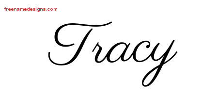 Tracy Classic Name Tattoo Designs
