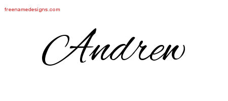 cursive name tattoo designs andrew free graphic free name designs. Black Bedroom Furniture Sets. Home Design Ideas
