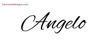 Angelo Cursive Name Tattoo Designs