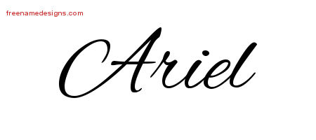 cursive name tattoo designs ariel free graphic free name designs. Black Bedroom Furniture Sets. Home Design Ideas
