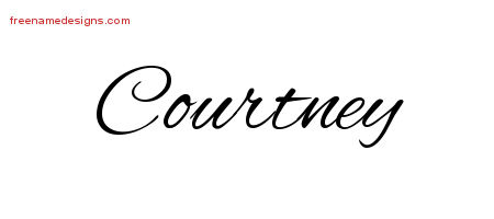 Courtney Cursive Name Tattoo Designs