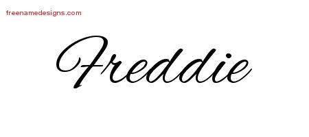 Freddie Cursive Name Tattoo Designs