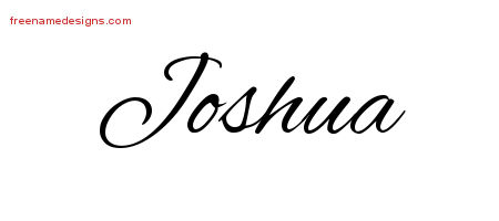 Joshua Cursive Name Tattoo Designs
