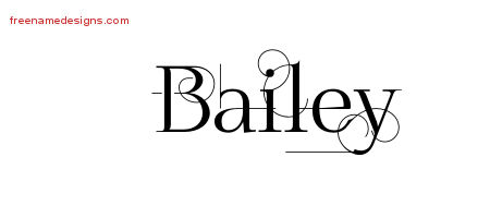 Bailey Decorated Name Tattoo Designs