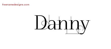 Danny Decorated Name Tattoo Designs
