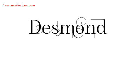 Desmond Decorated Name Tattoo Designs