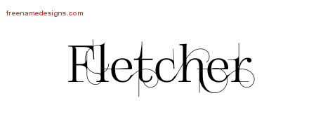 Fletcher Decorated Name Tattoo Designs