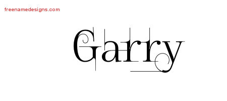 Garry Decorated Name Tattoo Designs