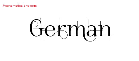 German Decorated Name Tattoo Designs