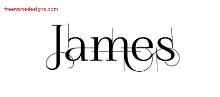 James Decorated Name Tattoo Designs