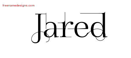 Jared Decorated Name Tattoo Designs