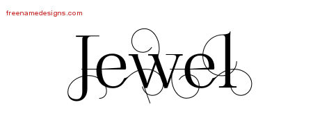 Jewel Decorated Name Tattoo Designs