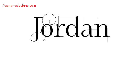 Jordan Decorated Name Tattoo Designs