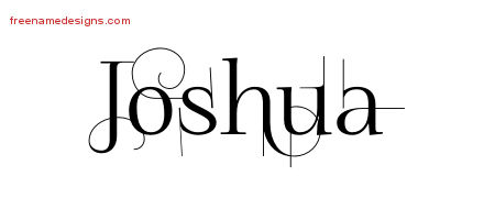 Joshua Decorated Name Tattoo Designs