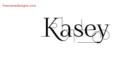 Kasey Decorated Name Tattoo Designs