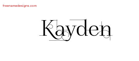 Kayden Decorated Name Tattoo Designs