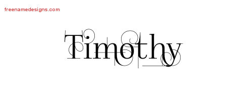 Timothy Decorated Name Tattoo Designs