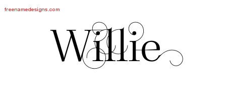 Willie Decorated Name Tattoo Designs