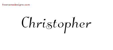Christopher Elegant Name Tattoo Designs