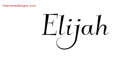 elegant name tattoo designs elijah download free free name designs. Black Bedroom Furniture Sets. Home Design Ideas