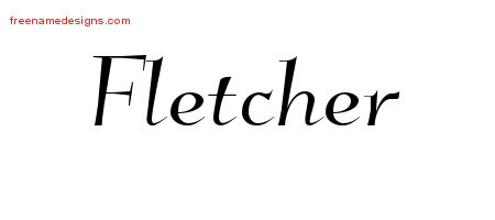 Fletcher Elegant Name Tattoo Designs