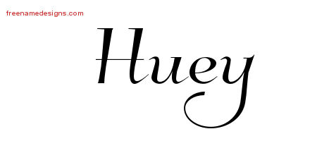 Huey Elegant Name Tattoo Designs