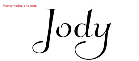 Jody Elegant Name Tattoo Designs